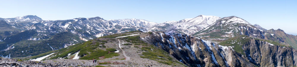山頂でのパノラマ写真