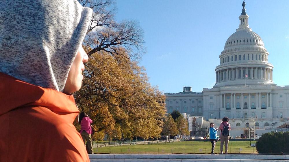 目の前にホワイトハウス